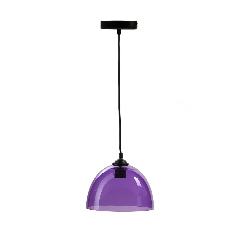 Suspension bowl pendant lamp orange finesse decor for Suspension a 3 lampes