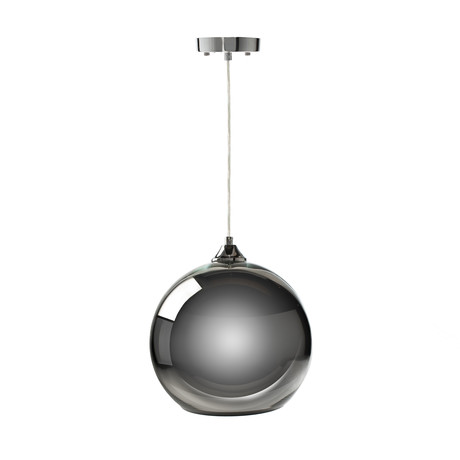 Single Sphere Pendant Lamp // Chrome // Small