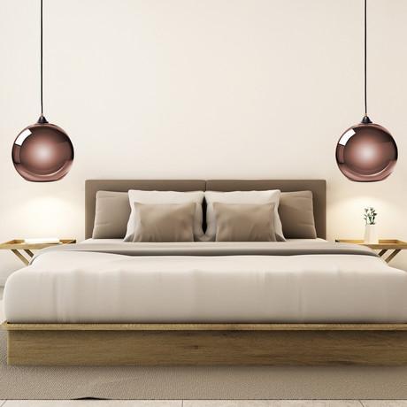Single Sphere Pendant Lamp // Copper // Small