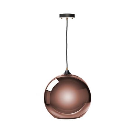 Single Sphere Pendant Lamp // Copper // Large