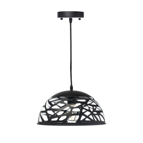 Modern Touch Oval Pendant Lamp // Black (Small)