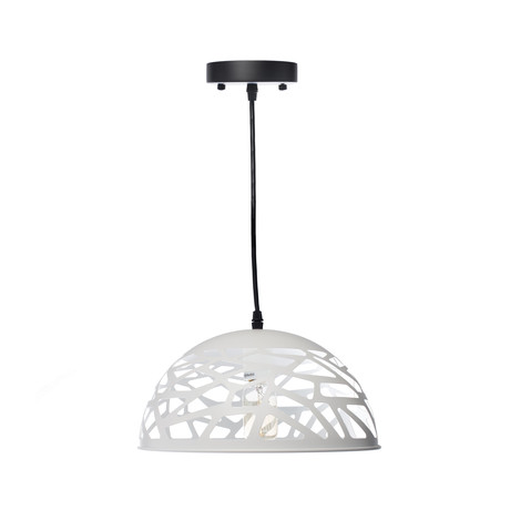 Modern Touch Oval Pendant Lamp // White // Large