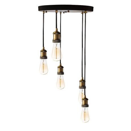 Multiple Vintage Pendant Lamp // 5 Lights