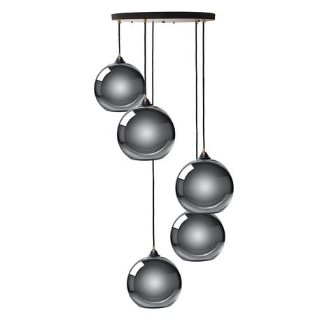 Multi Sphere Pendant Lamp // Chrome