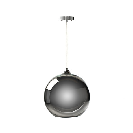 Single Sphere Pendant Lamp // Chrome // Large