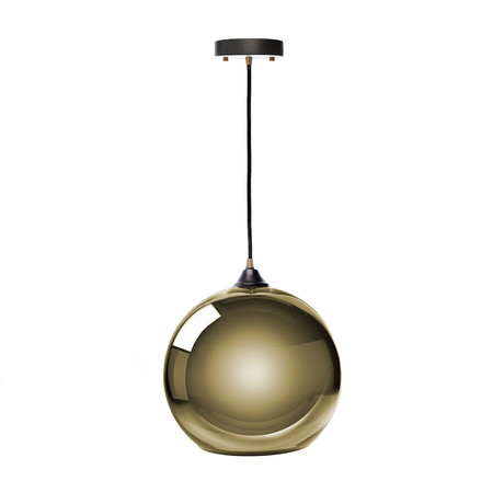Single Sphere Pendant Lamp // Gold // Small