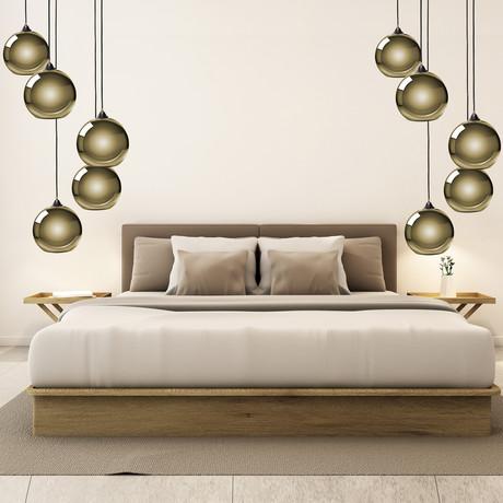 Multi Sphere Pendant Lamp // Gold