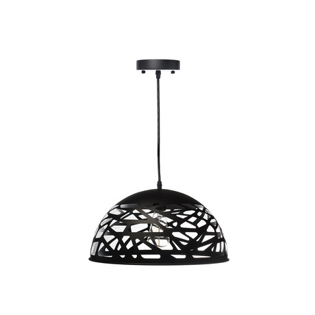 Modern Touch Oval Pendant Lamp // Black // Large