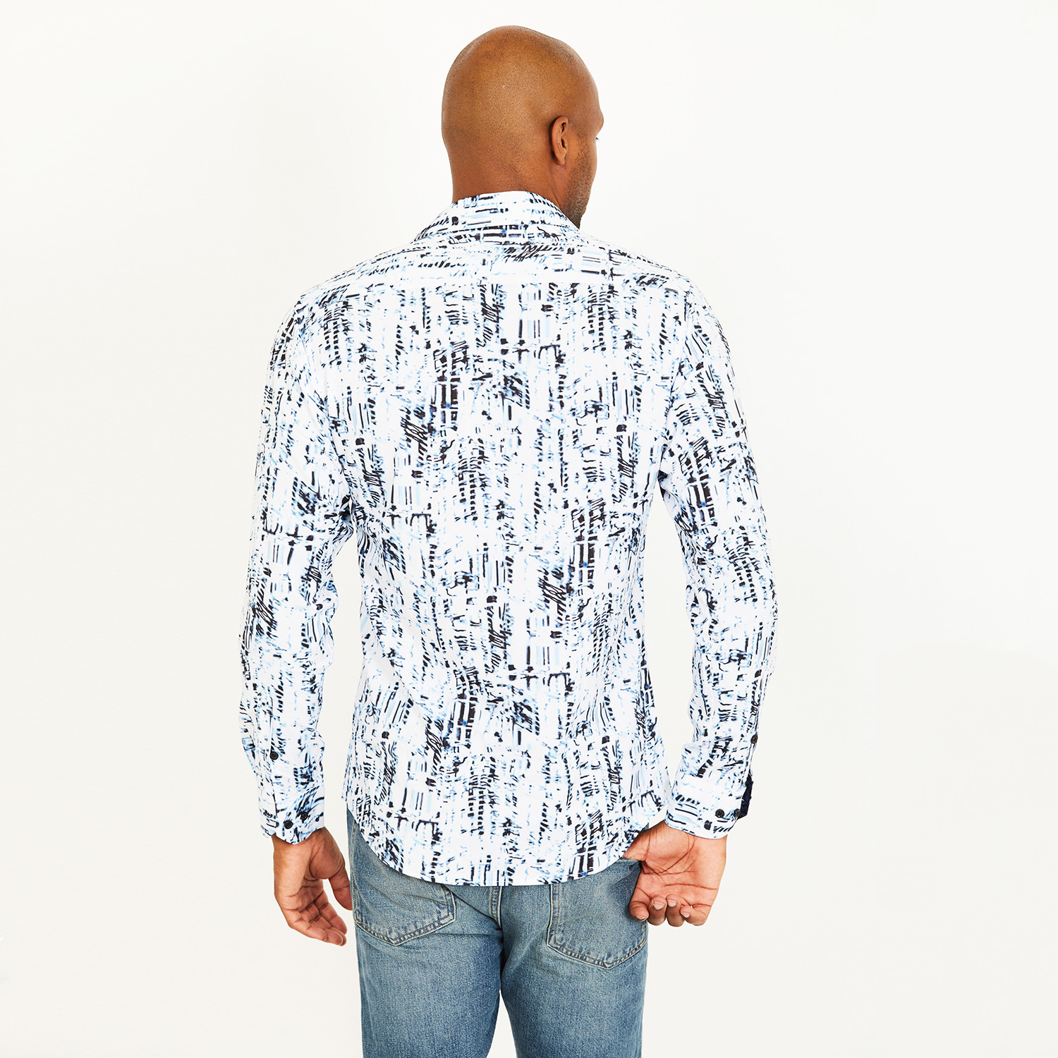 cac3775184 Harold Button-Up Shirt    White + Blue (S) - St. Lynn - Touch of Modern