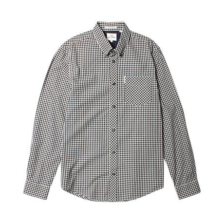 Long Sleeve Core Gingham Shirt // Jet Black