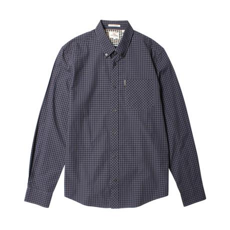 Long Sleeve Core Gingham Shirt // Phantom