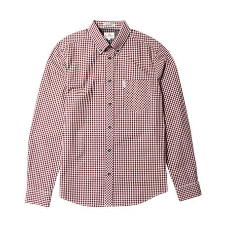 Long Sleeve Core Gingham Shirt // Wine