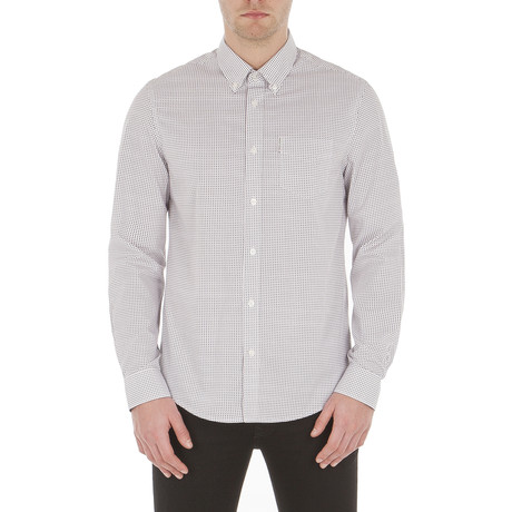 Micro Square Geo Shirt // Bright White