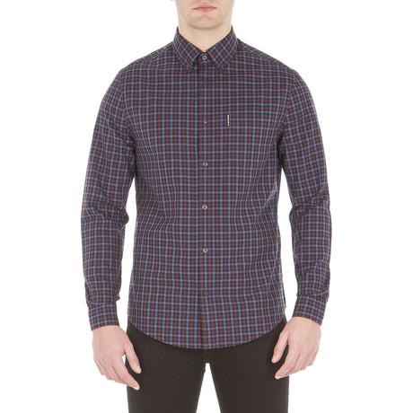 Long Sleeve House Gingham Shirt // Dark Plum