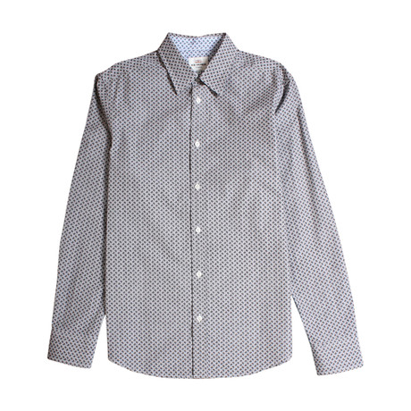 Long Sleeve Paisley Dot Shirt // Chimney Marl