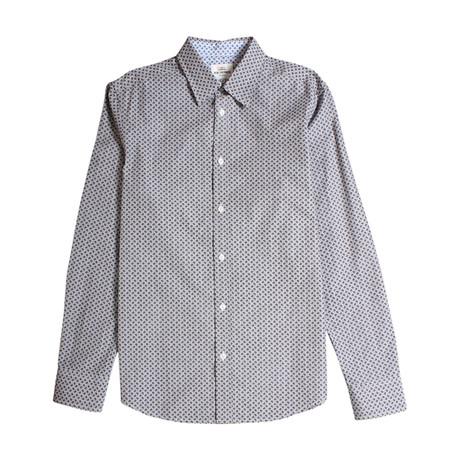 Long Sleeve Paisley Dot Shirt // Chimney Marl
