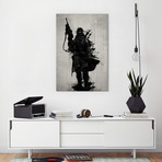 "Post-Apocalyptic Warrior (60""W x 40""H x 1.5""D)"