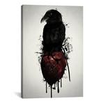 "Raven + Heart Grenade (26""W x 18""H x 0.75""D)"