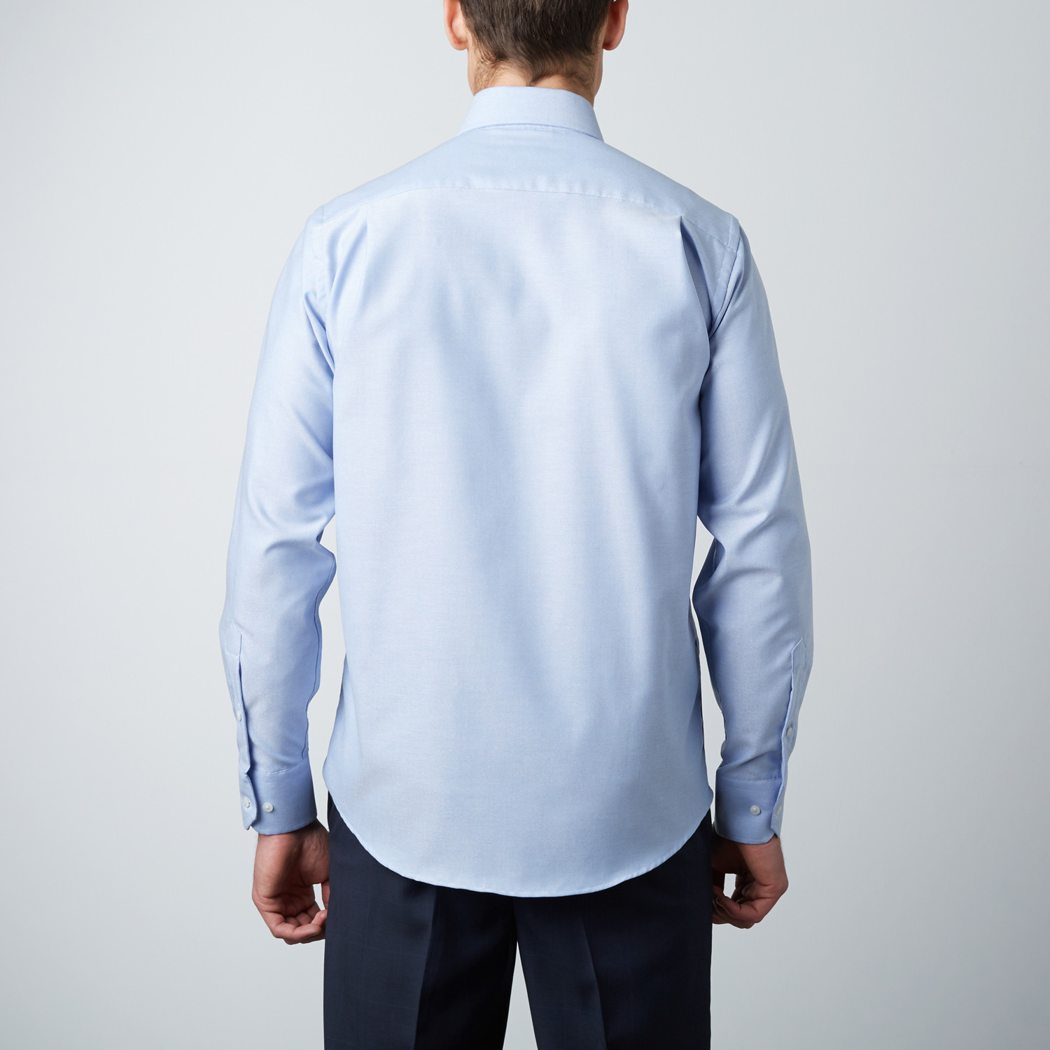 Classic dress shirt white blue 39 clearance for Classic white dress shirt