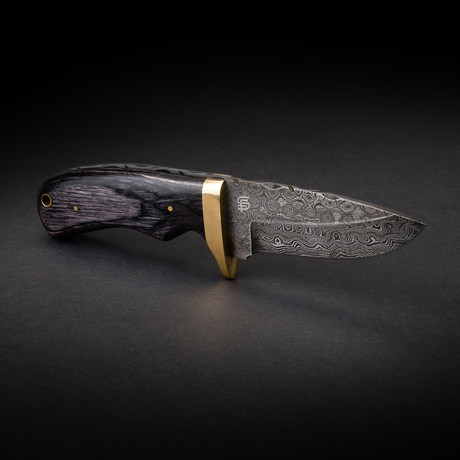 Jim Baker Handmade Damascus Steel Skinner Knife