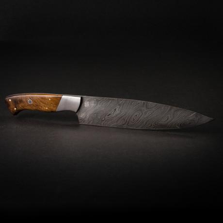 "Cuisinier 8"" Handmade Damascus Steel Chef Knife"