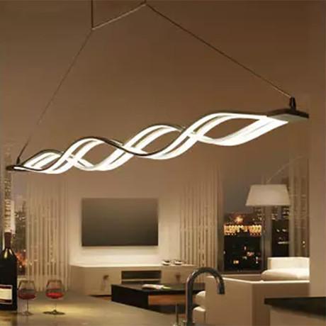 Flowing Waves // LED Pendant Light