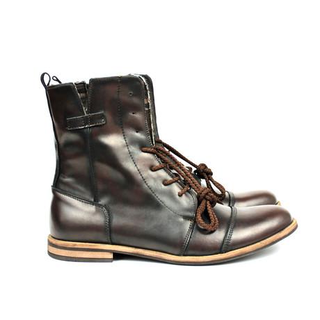 Masatti Cap-Toe Boot // Dark Brown