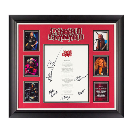 Framed Autographed Lyric Collage // Lynyrd Skynyrd