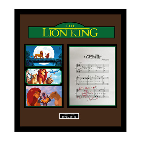 Signed + Framed Lyric Collage // The Lion King