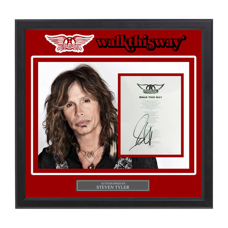 Signed + Framed Lyric Collage // Steven Tyler
