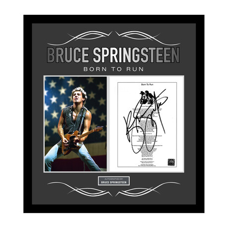 Framed Autographed Lyric Collage // Bruce Springsteen