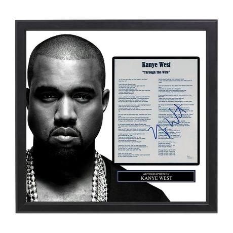 Framed Autographed Lyric Collage // Kanye West