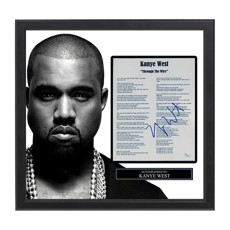 Framed Autographed Lyric Collage // Kanye West