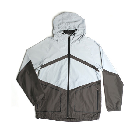 Theory Reflective Zip Jacket // Reflective Silver (S)