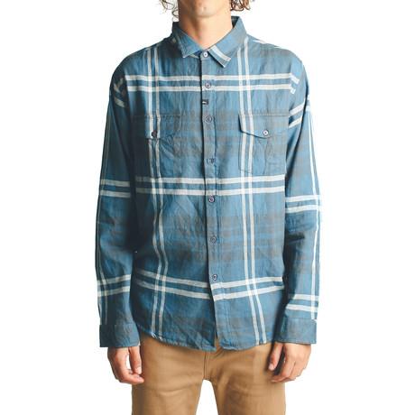 Wayward L/S Flannel // Oil Blue (S)