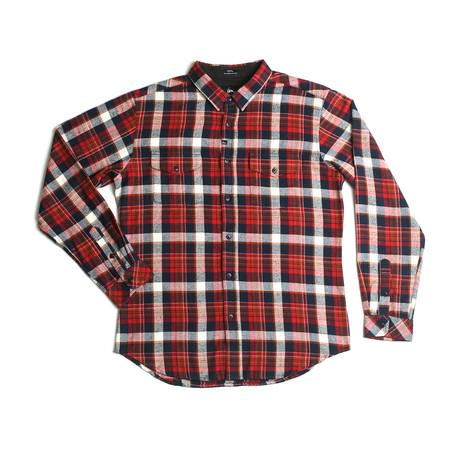 Cushman Flannel // Red + Navy