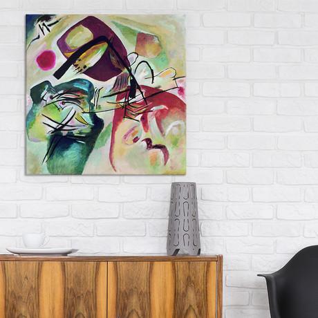 """With Black Arch // Wassily Kandinsky // 1912 (18""""W x 18""""H x 0.75""""D)"""