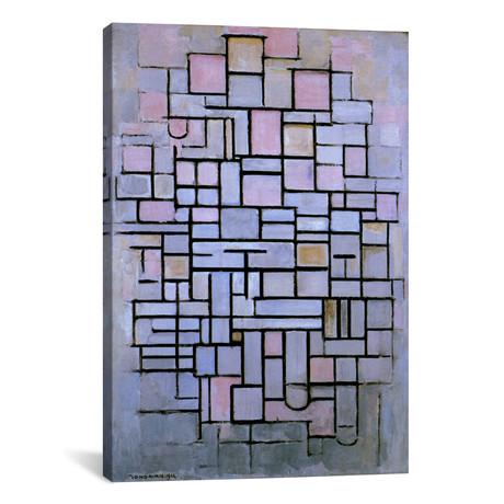 """Composition 6, 1914 // Piet Mondrian (12""""W x 18""""H x 0.75""""D)"""