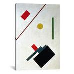 """Suprematist Composition, 1915 // Kazimir Severinovich Malevich (12""""W x 18""""H x 0.75""""D)"""