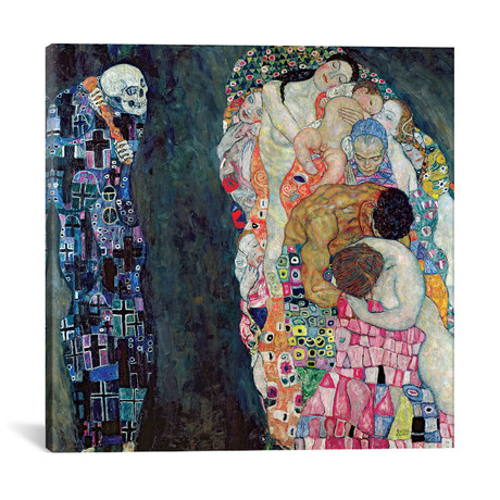 "Death And Life, c.1911 // Gustav Klimt (18""W x 18""H x 0.75""D)"