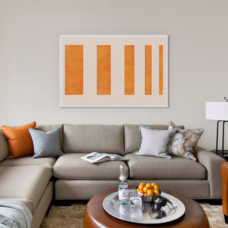 "Modern Art // Orange Levies (18""W x 26""H x 0.75""D)"