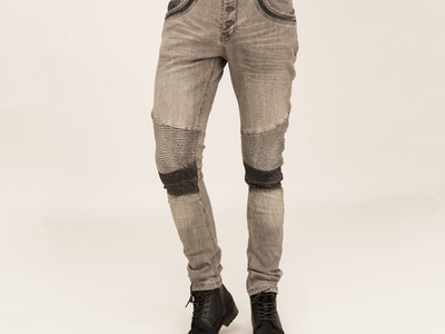 Touch Of Modern - True Prodigy Rock the Rebellious Look Vex Moto Denim // Grey (29WX32L) Photo