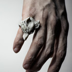 White Wolf Ring (Size: 7)