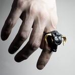 Black Minotaur Ring (Size: 5)