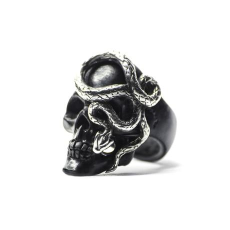 Black Skull + Snake Ring (6)