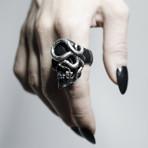 Black Skull + Snake Ring (12)