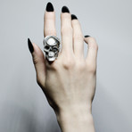 Black Skull + Snake Ring (10)
