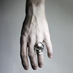 White Skull + Snake Ring (9)
