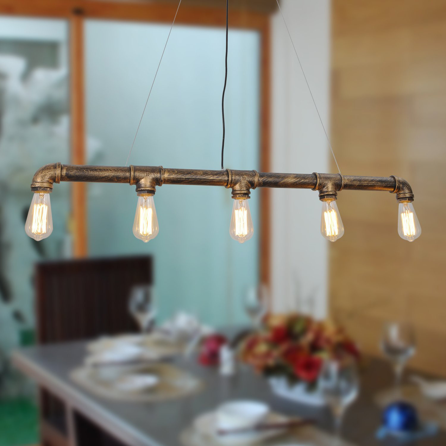 Vintage Water Pipe Pendant Light - Unitary Lighting - Touch of Modern