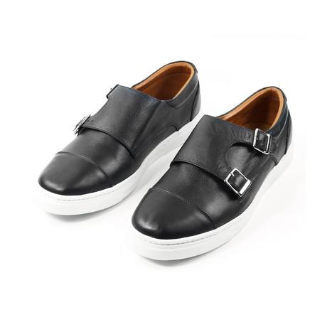 Noche Double Monk Strap Sneakers // Black